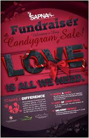 send a gram candy gram fundraiser poster on behance fundraising