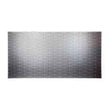 Home Depot Decorative Wall Panels Fasade Diamond Plate 96 In X 48 In Crosshatch Silver Vinyl