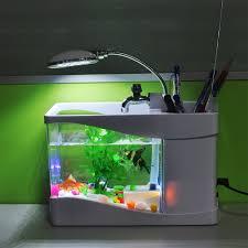 aliexpress com buy new arrival usb fish tank aquarium with led aliexpress com buy new arrival usb fish tank aquarium with led light desktop fish tank aquarium for home decoration et150 from reliable aquarium