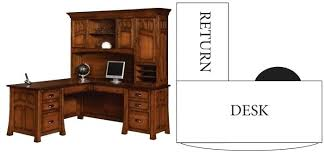 l shaped desk with hutch right return right return desk large size of office shaped desk right return hon