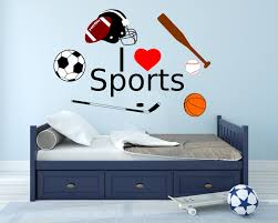 Wall Decals For Boys I Love Sports Decal Sports Boys Room Art Boys Room Decals