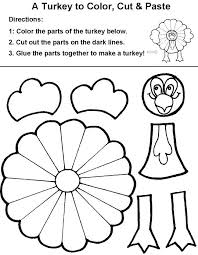 printable turkey cutout cut out coloring pages thanksgiving printable crafts for kids fall