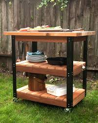 diy grill table plans 5 diy grilling carts the home depot blog