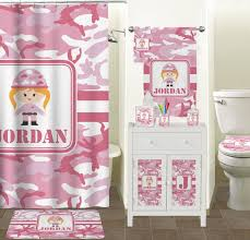 Pink Bathroom Accessories Sets by Pink Camo Bathroom Accessories Set Personalized Potty Training