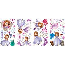 sofia the first peel and stick giant wall decals walmart com sofia the first peel and stick wall decals