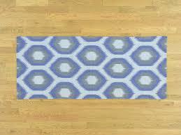 Flat Weave Runner Rugs 2 5 X6 Geometric Design Handmade Reversible Kilim Flat Weave