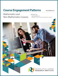 course engagement patterns in mathematics and non mathematics