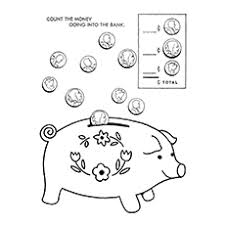 His And Hers Piggy Bank 10 Piggy Bank Coloring Pages For Your Little Ones