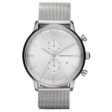 armani watches bracelet images Emporio armani watch womens stainless steel mesh bracelet 43mm jpg