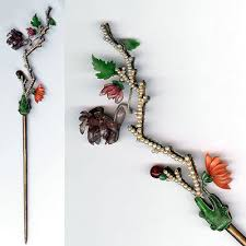 postcard from almaden kanzashi japanese hair ornament