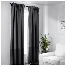 interior pair of white curtains ikea blackout curtains and black