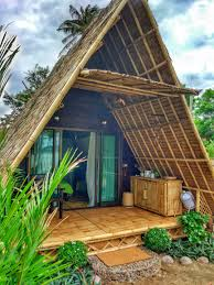 seaview a frame eco bamboo bungalow koh phangan island thailand