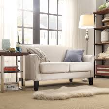 living room cindy crawford sectional sofa gena piece linen look