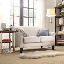 living room cindy crawford sectional sofa gena piece linen look