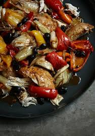 italian olives italian roast chicken with peppers and olives nigella s recipes