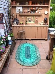Diy Outdoor Rug Garden Hose Rug Backyard Decorating Ideas
