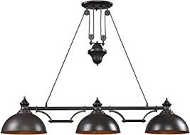 Billiard Light Fixtures Elk 65151 3 56 By 11 Inch Farmhouse 3 Light Billiard Island