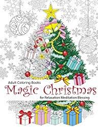 25 christmas coloring books postcards gift tags adults 2017