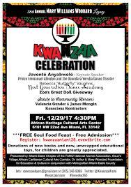 williams woodard legacy kwanzaa celebration tickets fri dec