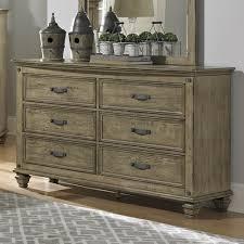 Bedroom Furniture Oak Veneer Homelegance Sylvania 6 Drawer Dresser W Mirror In Oak Veneered