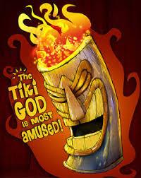 tiki god funny humor tiki bar mask lowbrow kustom pop art home
