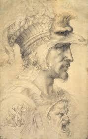 michelangelo buonarroti ideal head of a warrior buhrle