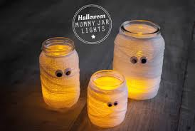 Mason Jar Halloween Diy Halloween Mummy Jar Lights Diy Tutorials Inspiration