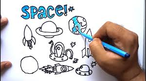 space drawing for kids coloring pages for children draw alien