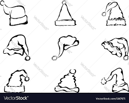 simple outline christmas hat royalty free vector image