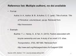 apa format reference journal article multiple authors cover