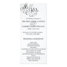 classic wedding programs classic mr mrs wedding program zazzle
