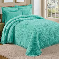 Teal Coverlet Teal Bedspread Lightweight Teasels Teal Bedspread In 100 Cotton