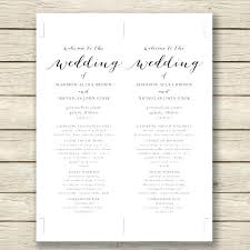 one page wedding program template luxury wedding invitation templates word document for one page