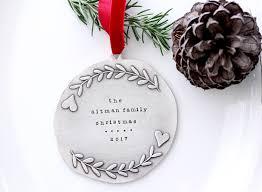 fine silver christmas ornament family christmas ornament