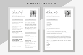 what is a cover letter to a resume olivia resume cover letter resume templates creative market