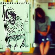 everyday scenes playfully transformed into speed sketches