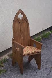 gothic folding chair