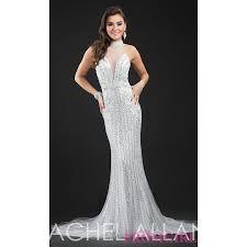 beaded illusion sweetheart sheer back long rachel allan prom dress