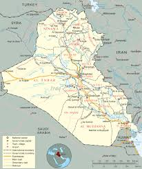 map of irak iraq map flag capital baghdad