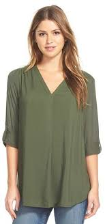 pleione blouse nordstrom pleione mixed media v neck tunic where to buy how to