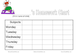 printable homework incentive charts chart and other tools to get homework done