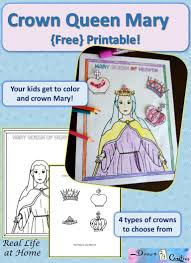Rosary For Kids Worksheets Mary Queen Of Heaven Printable Activity Real Life At Home