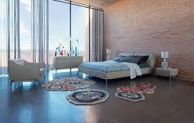 chambre roche bobois lit contemporain tapissé avec tête de lit ellica by