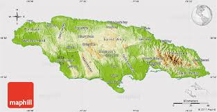 jamaica physical map physical map of jamaica cropped outside