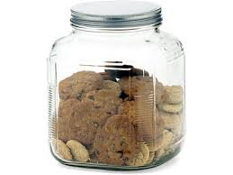 stainless steel 1 gal glass cookie u0026 cracker jar by anchor