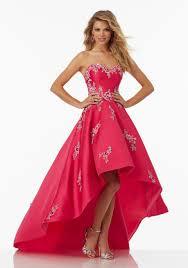 satin prom dress with hi low hemline style 99091 morilee