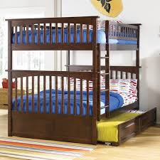 Columbia Full  Full Bunk Bed Raised Panel Trundle Antique - Full over full bunk bed with trundle