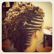 mwahahwk hairstule done using kinky double twist mohawk naturaltress salon pinterest mohawks