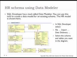hr schema tables data 04 of 15 sql basics with oracle data model for sle hr database