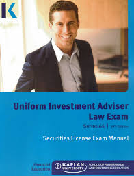 kaplan series 65 uniform investment adviser law exam securities